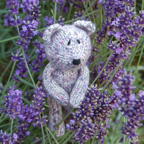 Pure Shetland wool teddy bear