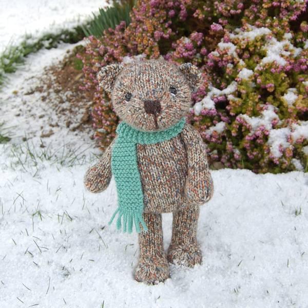 Exploring the snowy garden