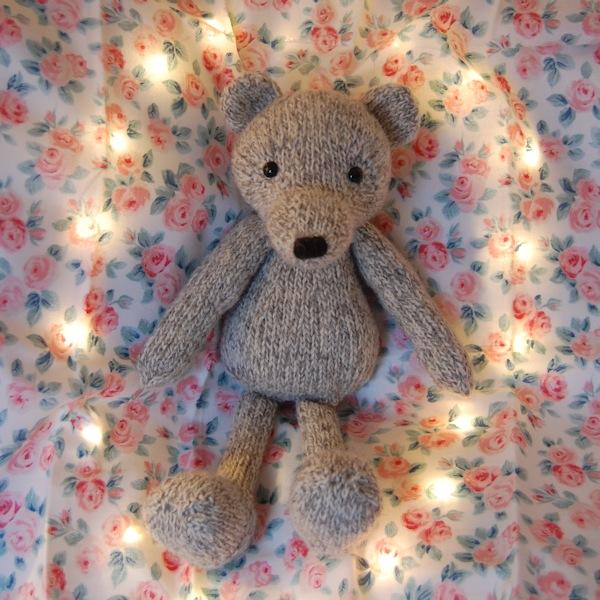 Sweet little shetland wool teddy bear