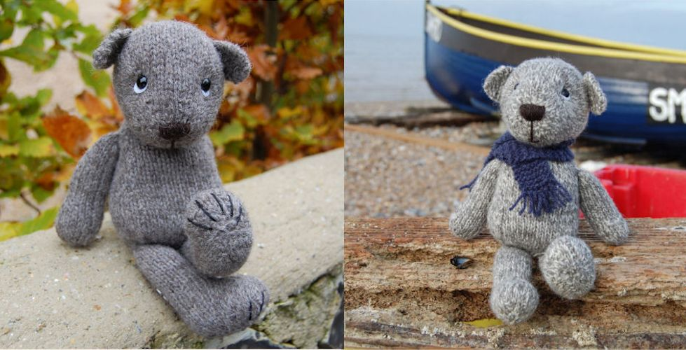Dempster and Hamish hand knitted In pure Shetland wool