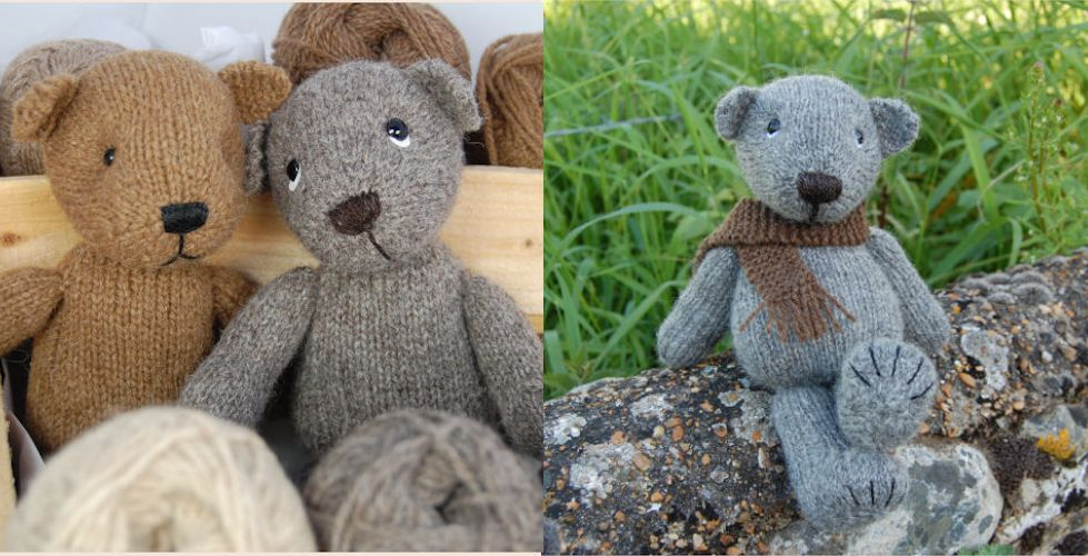 Castlemilk, Jacob and Gotland rare breed wool teddy bears