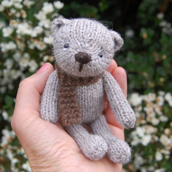 Hand Made Pure St. Kilda Wool Pocket Teddy Bear