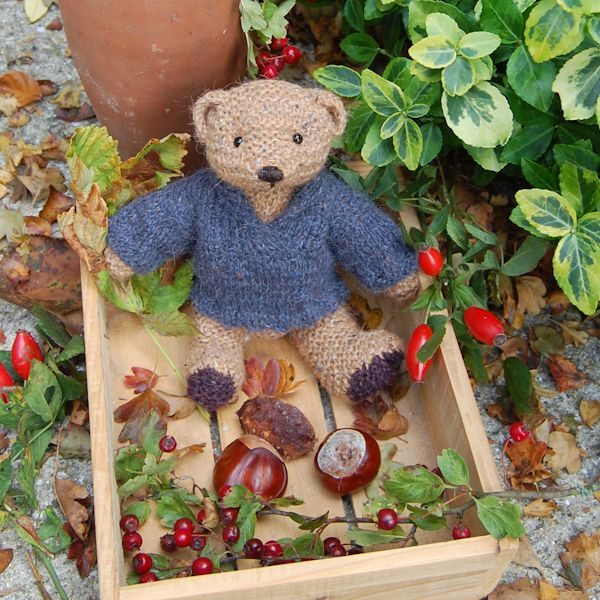 Little Elgan who loves to collect Autumnal treasures!
