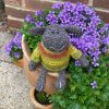 Zwartbles and Cheviot wool mix hand crochet sheep - The Knitted Bear Company